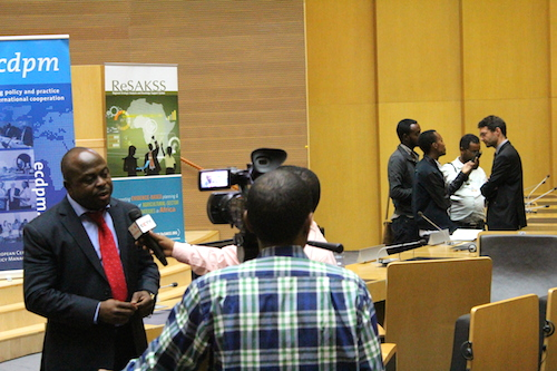 Komla Bissi, CAADP Pillar II Adviser – AUC speaks to the media